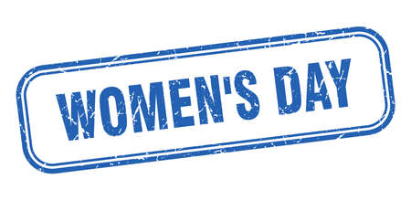 womens day stamp. womens day square grunge blue sign