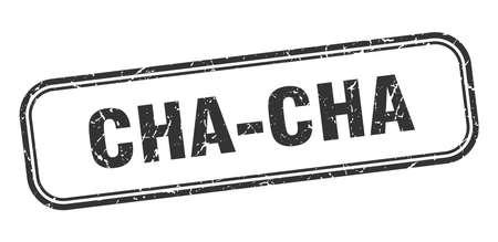 cha-cha stamp. cha-cha square grunge black sign