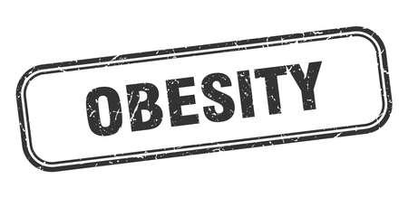 obesity stamp. obesity square grunge black sign Stok Fotoğraf - 137953852