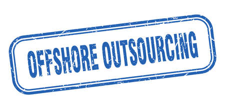 offshore outsourcing stamp. offshore outsourcing square grunge blue sign Illustration