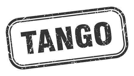 tango stamp. tango square grunge black sign