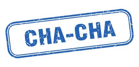 cha-cha stamp. cha-cha square grunge blue sign Ilustrace