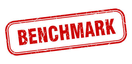 benchmark stamp. benchmark square grunge red sign Illustration