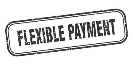 flexible payment stamp. flexible payment square grunge black sign Foto de archivo - 137956751