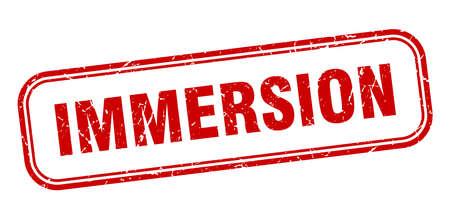 immersion stamp. immersion square grunge red sign Foto de archivo - 137956753