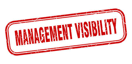 management visibility stamp. management visibility square grunge red sign Foto de archivo - 137956755