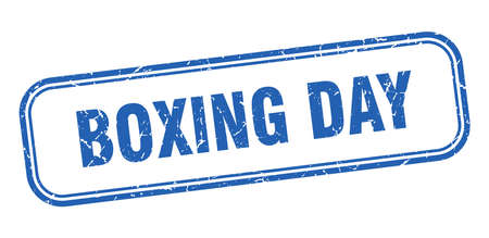 boxing day stamp. boxing day square grunge blue sign Foto de archivo - 137956756