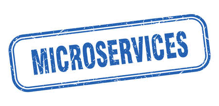 microservices stamp. microservices square grunge blue sign Foto de archivo - 137956982