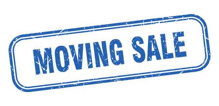 moving sale stamp. moving sale square grunge blue sign Foto de archivo - 137956987