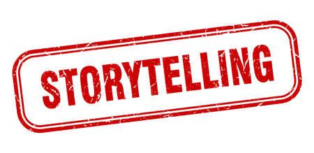 storytelling stamp. storytelling square grunge red sign Foto de archivo - 137957009