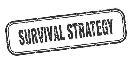 survival strategy stamp. survival strategy square grunge black sign Foto de archivo - 137957033