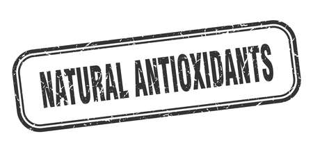 natural antioxidants stamp. natural antioxidants square grunge black sign Foto de archivo - 137957041