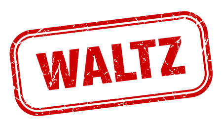 waltz stamp. waltz square grunge red sign Foto de archivo - 137959988