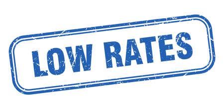 low rates stamp. low rates square grunge blue sign Foto de archivo - 137960004