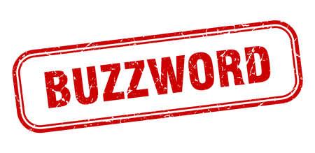 buzzword stamp. buzzword square grunge red sign Foto de archivo - 137960013