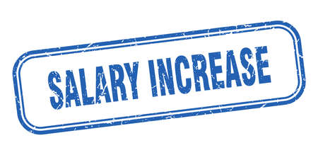 salary increase stamp. salary increase square grunge blue sign Foto de archivo - 137960015