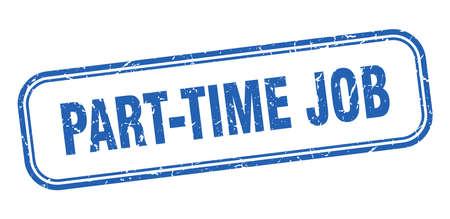 part-time job stamp. part-time job square grunge blue sign Foto de archivo - 137960055