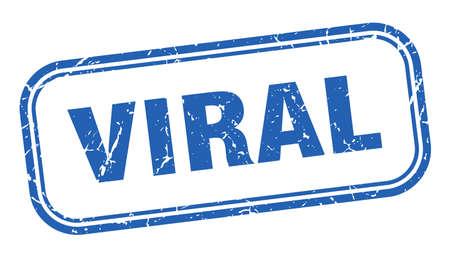 viral stamp. viral square grunge blue sign Foto de archivo - 137960069