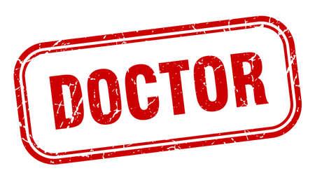doctor stamp. doctor square grunge red sign Foto de archivo - 137960071