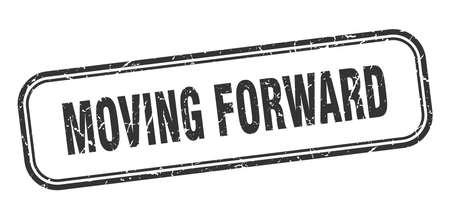 moving forward stamp. moving forward square grunge black sign Foto de archivo - 137960091