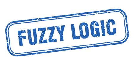 fuzzy logic stamp. fuzzy logic square grunge blue sign Foto de archivo - 137960095