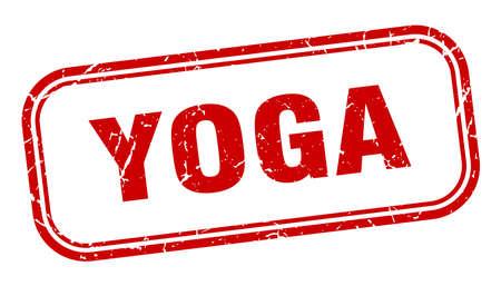yoga stamp. yoga square grunge red sign