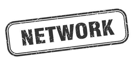 network stamp. network square grunge black sign Foto de archivo - 137960110