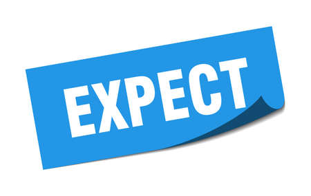 expect sticker. expect square sign. expect. peeler 向量圖像
