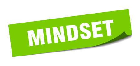 mindset sticker. mindset square sign. mindset. peeler