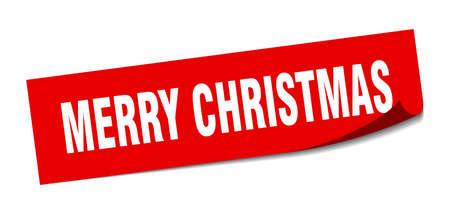 merry christmas sticker. merry christmas square sign. merry christmas. peeler Standard-Bild - 138470630