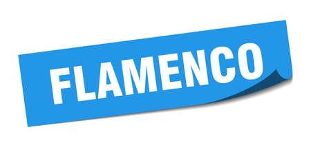 flamenco sticker. flamenco square sign. flamenco. peeler 矢量图像
