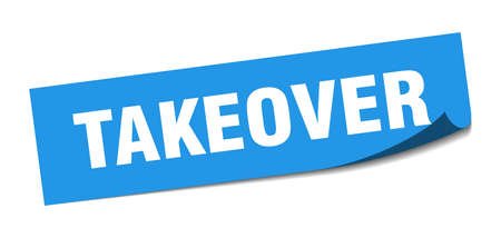 takeover sticker. takeover square sign. takeover. peeler