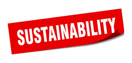 sustainability sticker. sustainability square sign. sustainability. peeler Banco de Imagens - 138472906