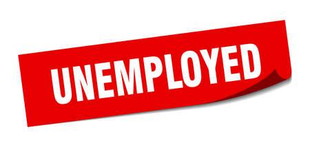 unemployed sticker. unemployed square sign. unemployed. peeler Ilustração