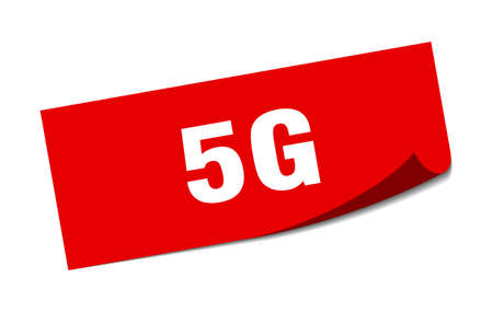 5g sticker. 5g square sign. 5g. peeler
