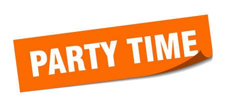 party time sticker. party time square sign. party time. peeler Reklamní fotografie - 138473084