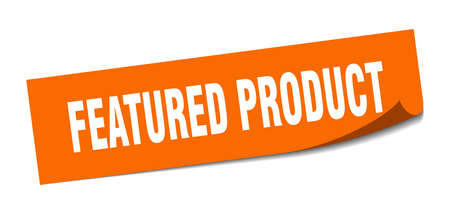 featured product sticker. featured product square sign. featured product. peeler  イラスト・ベクター素材