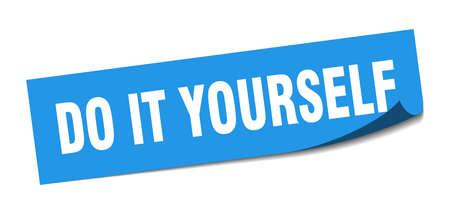 do it yourself sticker. do it yourself square sign. do it yourself. peeler Ilustração
