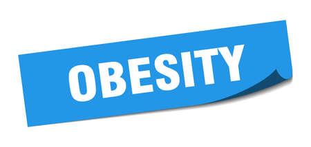 obesity sticker. obesity square sign. obesity. peeler