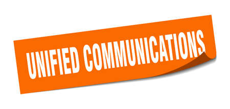 unified communications sticker. unified communications square sign. unified communications. peeler