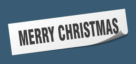 merry christmas sticker. merry christmas square sign. merry christmas. peeler Standard-Bild - 138473822