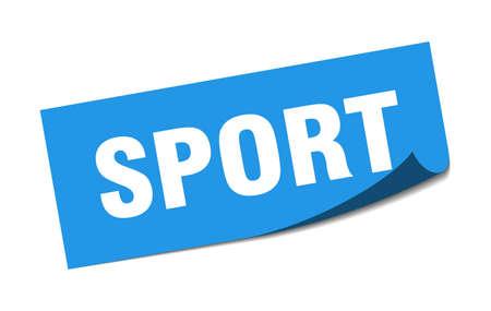 sport sticker. sport square sign. sport. peeler