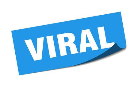 viral sticker. viral square sign. viral. peeler