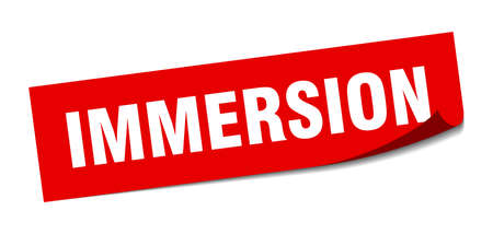 immersion sticker. immersion square sign. immersion. peeler