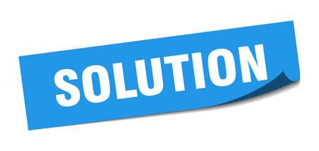 solution sticker. solution square sign. solution. peeler Illusztráció