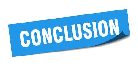 conclusion sticker. conclusion square sign. conclusion. peeler Illusztráció