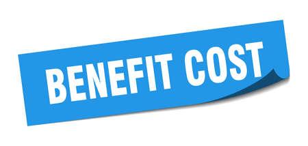 benefit cost sticker. benefit cost square sign. benefit cost. peeler Illusztráció