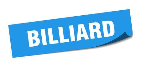 billiard sticker. billiard square sign. billiard. peeler Illusztráció
