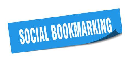 social bookmarking sticker. social bookmarking square sign. social bookmarking. peeler