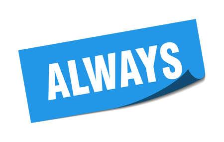always sticker. always square sign. always. peeler Illusztráció